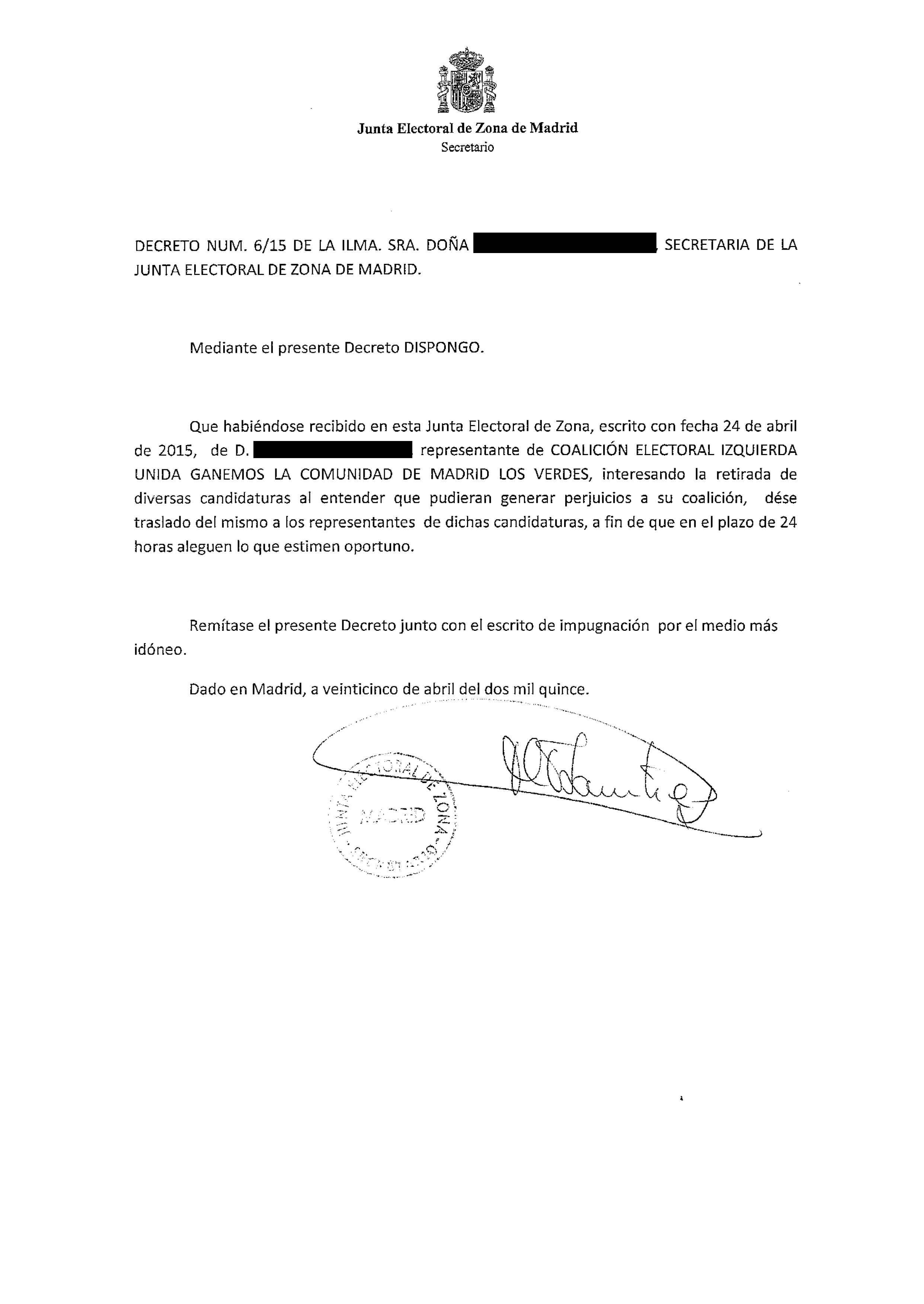 Decreto número 6 y escrito impugnación-1TACHADO