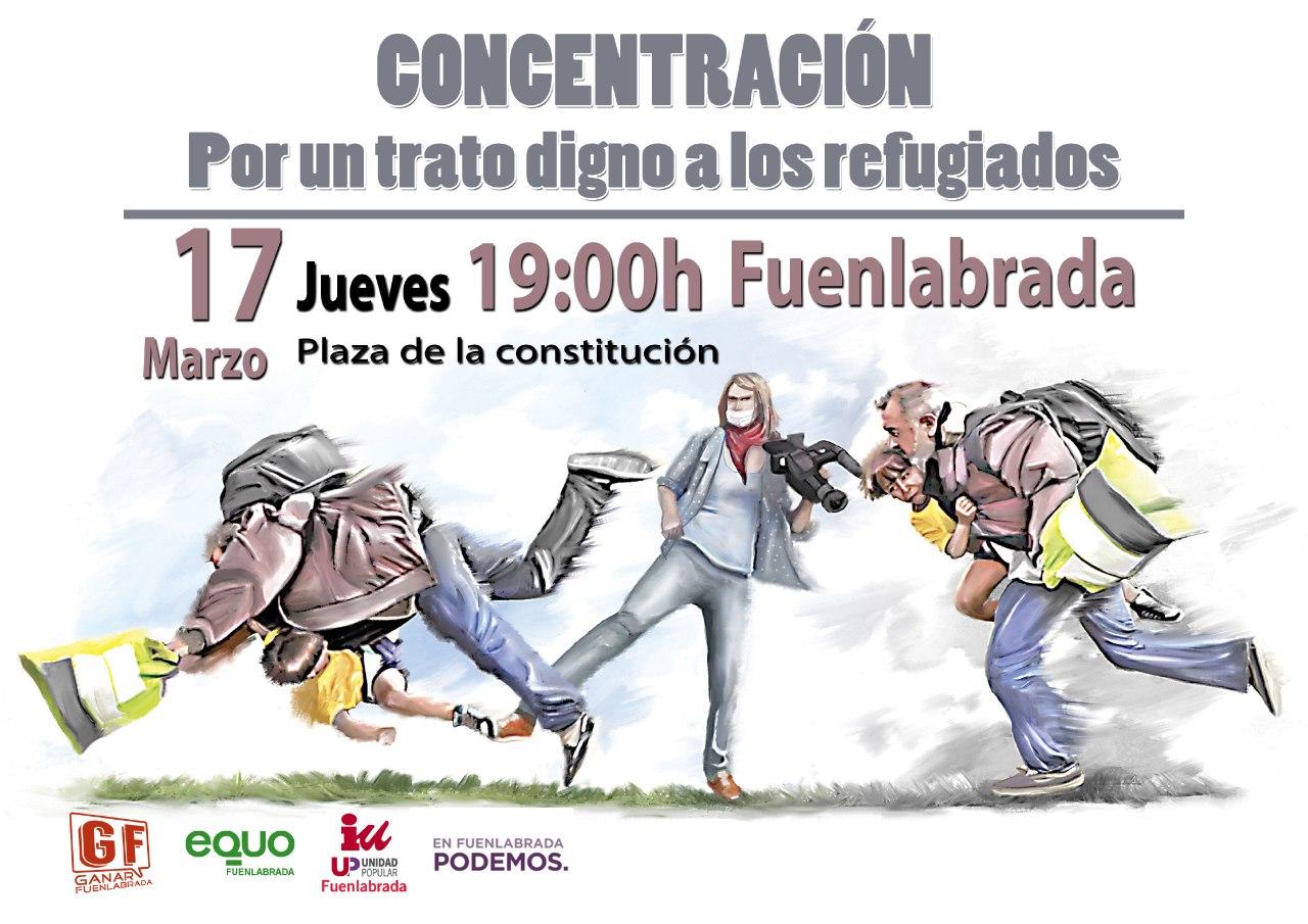 Concentracion Fuenlabrada Refugiados