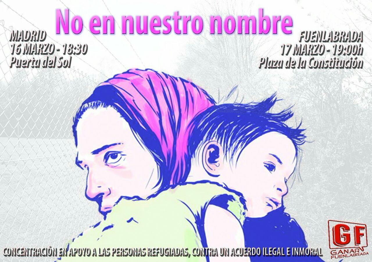 Concentracion Madrid-Fuenlabrada Refugiados